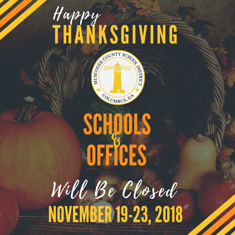 District Offices Closed November 19-23, 2018