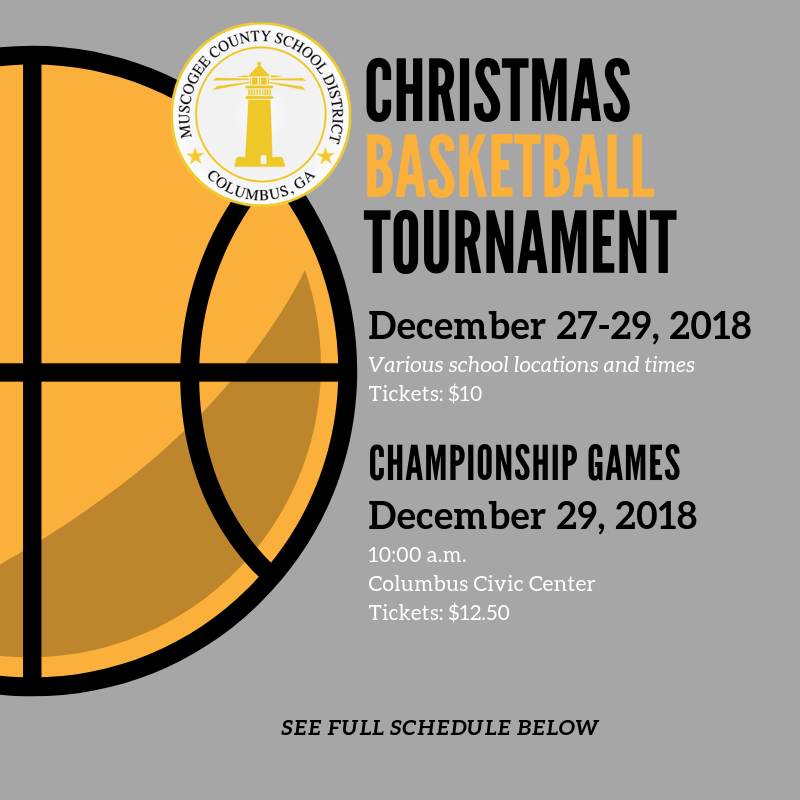 Muscogee County Christmas Tournament Schedule